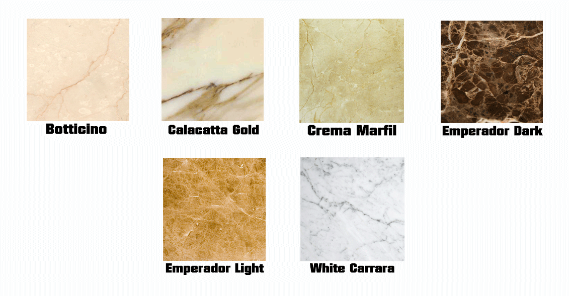 Also Consider Using This Natural Stone For Marble Bathroom Vanities Tile Flooring A Fireplace Tub Decks And Shower Surrounds